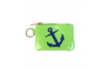 Lolo 'Kelly' Case With Navy Anchor Green