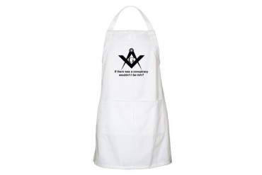 Masonic Conspiracy BBQ Freemasonry Apron by CafePress