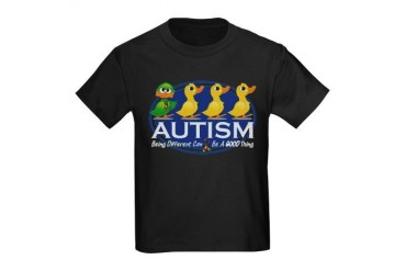 Autism Ugly Duckling Kids Dark T-Shirt