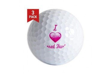 I Love/Heart Horned Sharks Animals Golf Balls by CafePress