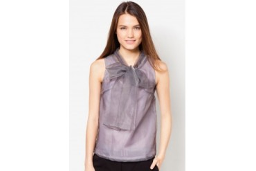 TLA Big Bow Organza Top
