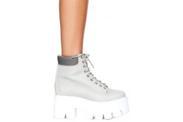 Nirvana Boot in Grey/White - designed by Jeffrey Campbell
