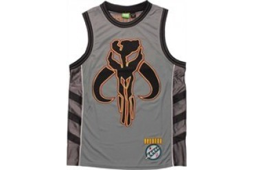 Star Wars Embroidered Mandalorian Logo Boba Fett 83 Basketball Jersey