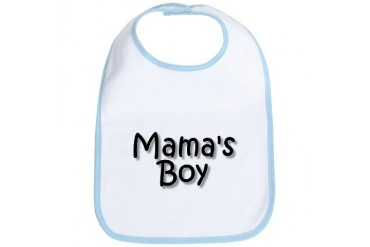 mama boy.jpg Funny Bib by CafePress