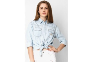 Heath Shirt Chambray Light Blue