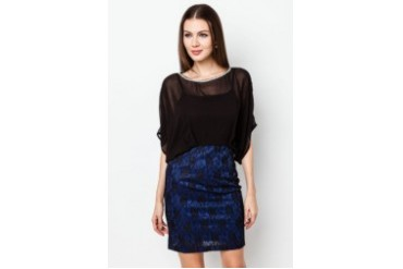 ICE dressme Lace Side Tucked Dress