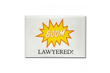 Boom Lawyered! Rectangle Magnet