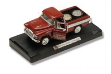 Frost Cutlery 1:28 Scale 1957 Chevrolet Cameo Pickup & State Quarters Gift Set - Kentucky