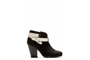 Rag And Bone Black Nubuck Harrow Ankle Boots