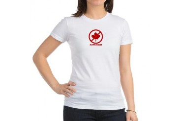 BLAME CANADA GIRLY T Jr. Jersey T-Shirt by CafePress