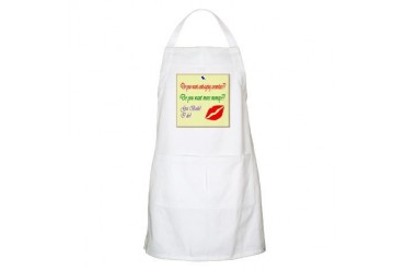 SkinCare Memo BBQ Kiss Apron by CafePress
