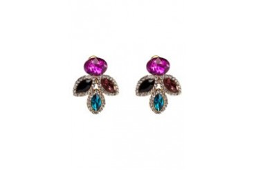 Black Queen Colourful Gem Earring