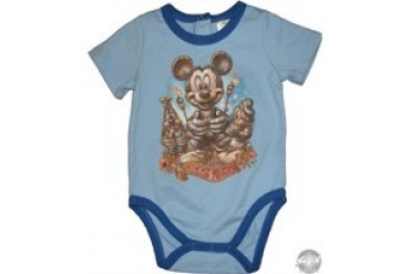 Disney Mickey Mouse Tiki Kingdom Blue Infant Snap Suit