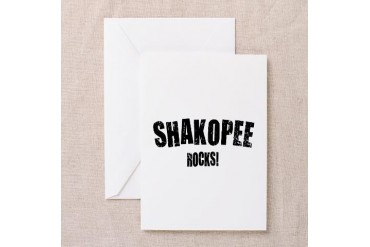 Shakopee Rocks Minnesota Greeting Card by CafePress