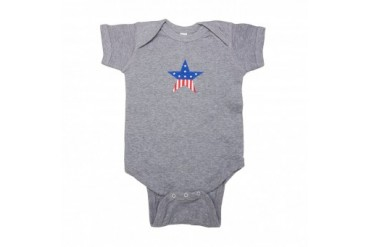 Star Spangled Baby Patriotic Onesie for Baby Boys