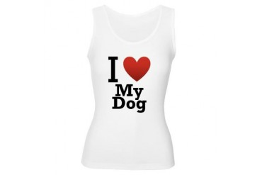 i-love-my-dog.png Animals Women's Tank Top by CafePress