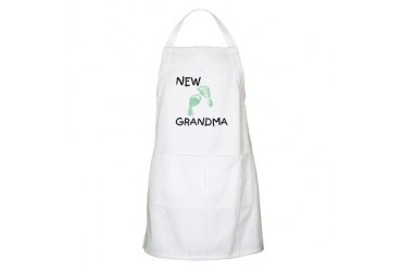 New Grandma green BBQ Grandma Apron by CafePress