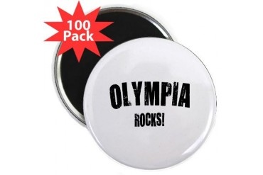 Olympia Rocks Location 2.25 Magnet 100 pack by CafePress