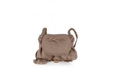 Twee Mini Beige Bubble Lambskin Shoulder Bag