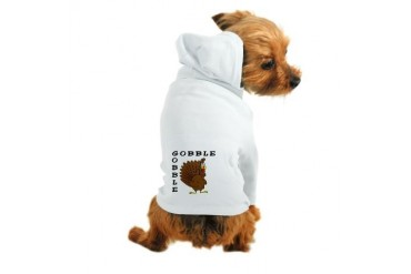 gobblegobble.PNG Funny Dog Hoodie by CafePress