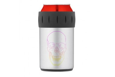 Colorful Skull Thermos Can Cooler Music Thermosreg; Can Cooler by CafePress