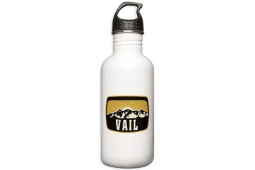 Vail Sunshine Patch Colorado Stainless Water Bottle 1.0L by CafePress