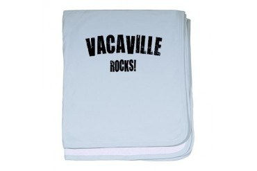 Vacaville Rocks California baby blanket by CafePress