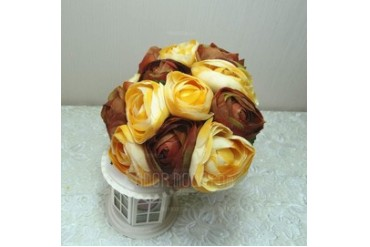 Classic Round Cloth Bridesmaid Bouquets (123047081)