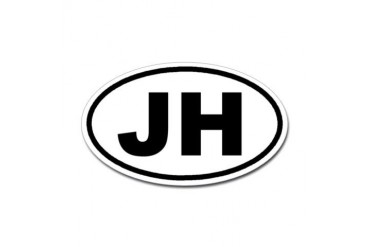 JH Jackson Hole, Wyoming Euro Oval Sticker