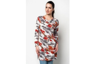 Aqeela Muslimah Wear Blouse With Abstract Prints