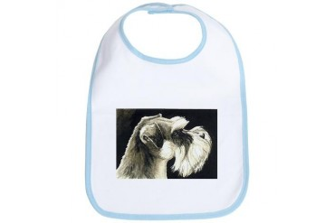 Miniature Schnauzer Head Pets Bib by CafePress