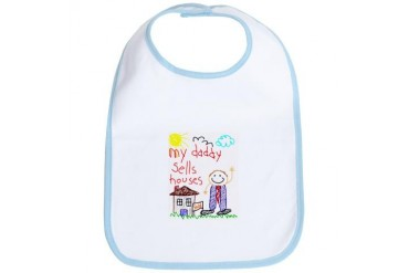 Real Estate Daddy Funny Bib by CafePress