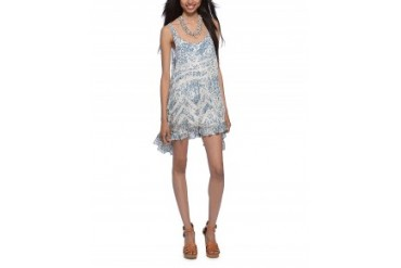 Free People Printed Voile and Lace Trapeze Slip Dress Multi, XS