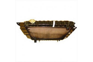 Omix-Ada Replacement 2 Core Radiator for 4 or 6 Cylinder Engine with Automatic Transmission 17101.12 Radiator