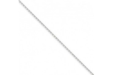 0.95mm, 14 Karat White Gold, Diamond-Cut Cable Chain - 30 inch