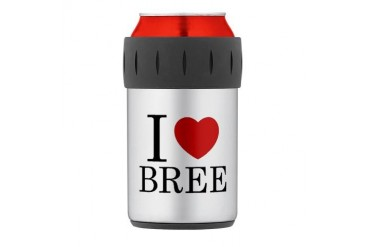 Bree Thermos Can Cooler Love Thermosreg; Can Cooler by CafePress