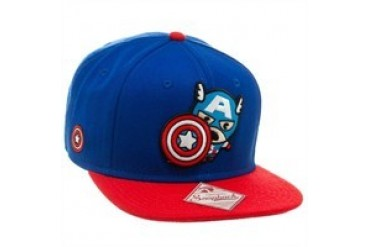 Marvel Comics Captain America Toy Blue Embroidered Snap Closure Hat