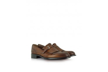 Brown Wingtip Leather Loafer