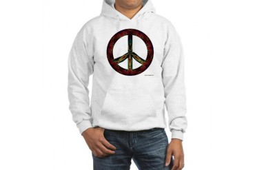 Tie Dye Peace and Love Art Hooded Sweatshirt by CafePress