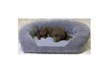 K amp H Pet Products Ortho Bolster Sleeper Pet Bed Large Gray Velvet 40 x 33