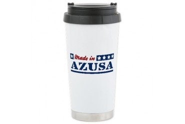 Made in Azusa California Ceramic Travel Mug by CafePress