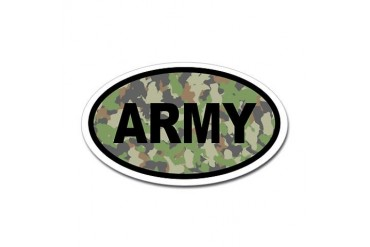 Camo ARMY Oval Sticker