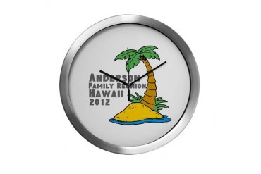 Personalized Family Reunion Family Modern Wall Clock by CafePress