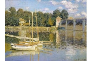 The Bridge at Argenteuil Poster Print by Claude Monet (22 x 28)