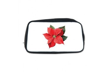 One Christmas Poinsettia Christmas Toiletry Bag by CafePress