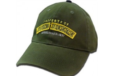 Property Of John Deere Cotton Baseball Hat (Olive)