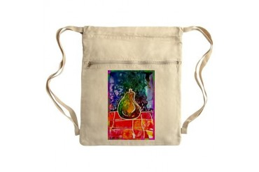 Fruit, Pear Bright art Sack Pack Art Cinch Sack by CafePress