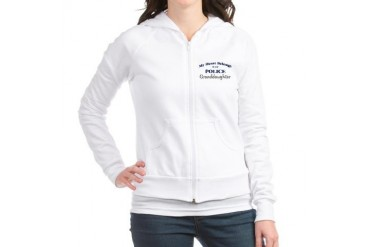 Police Heart: Granddaughter Family Jr. Hoodie by CafePress