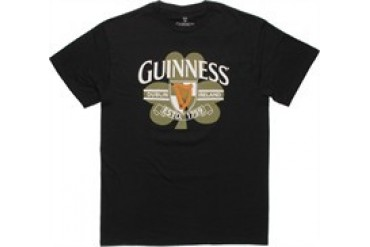 Guinness Clover Harp Black T-Shirt