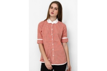 Heath Shirt Woven Peterpan Collar